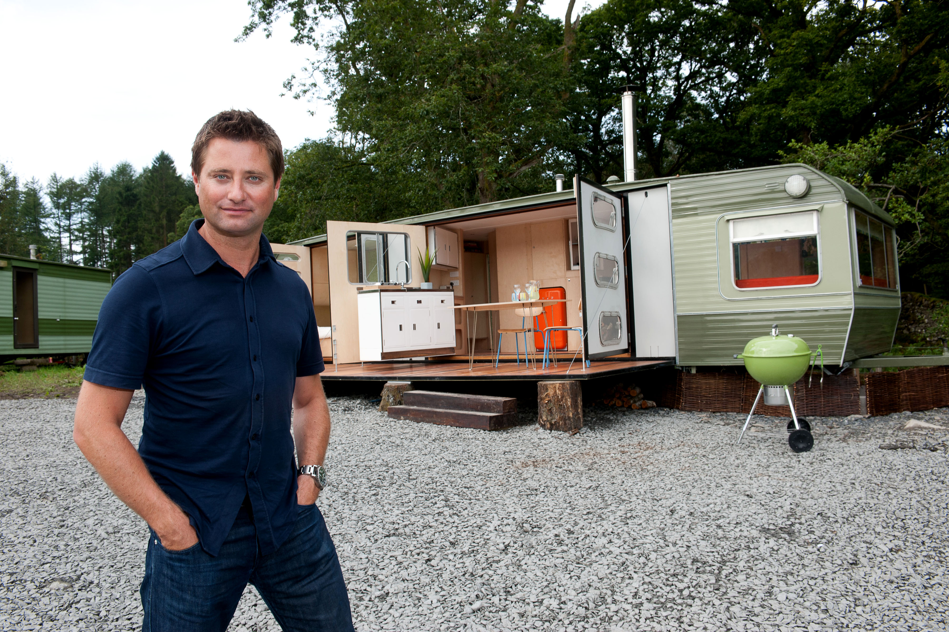 George Clarke shows off his Amazing Spaces - may include sheds