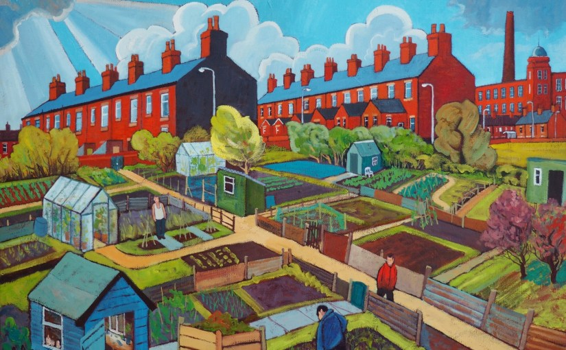 Allotment artist Chris Cyprus – A Coloured North