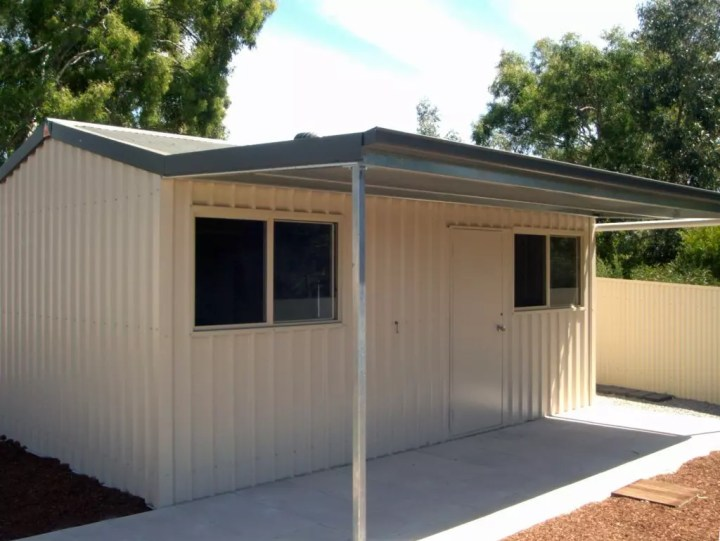 Shed Boss gable shed with awning
