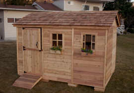 Outdoor Living Today 12X8 Cabana Garden Shed   Free Shipping on Outdoor Living Today Cabana id=80492