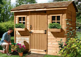 Outdoor Living Today 9X6 Cabana Garden Shed   Free Shipping on Outdoor Living Today Cabana id=36245