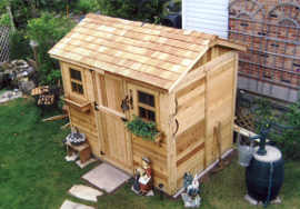 Outdoor Living Today 9X6 Cabana Garden Shed   Free Shipping on Outdoor Living Today Cabana id=88930