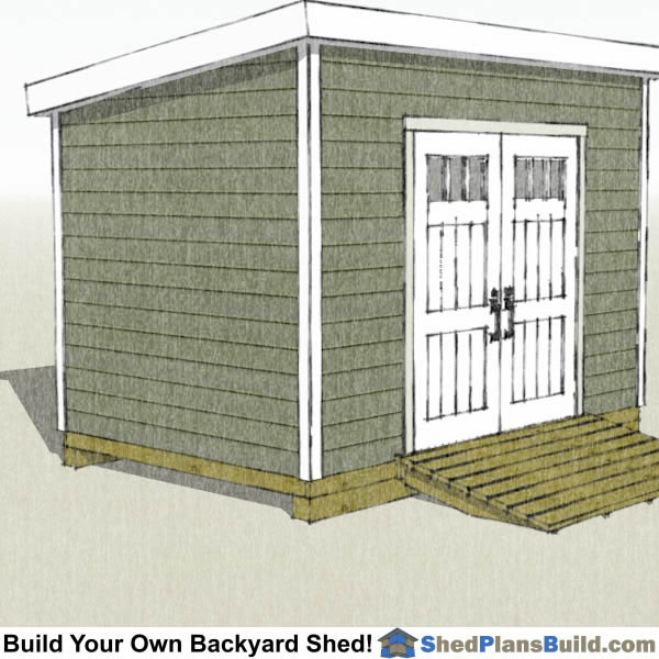 8x12 Lean To Shed Plans Start Building Now