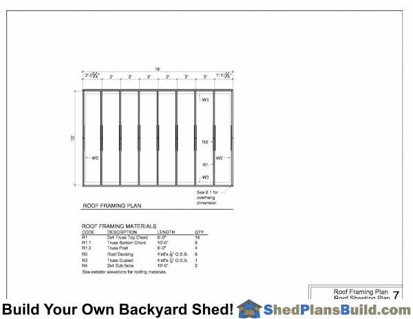 Framing Storage Shed
