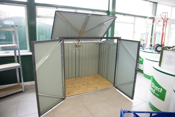 The Bin Store with all doors open (i.e. top and front)