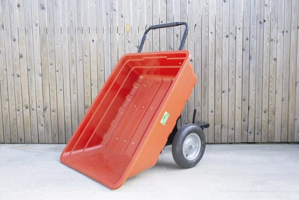 350 Litre extra large red garden cart AKA tipping cart