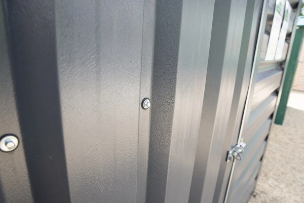 PVC Texture of PVC Cladded Shed from Sheds Direct Ireland