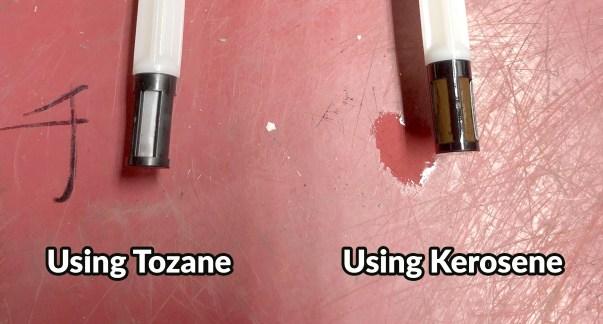 Usine tozane and kerosene in a heater