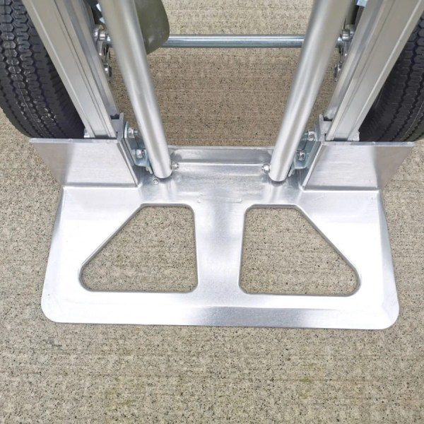 The foot plate of the 3 in 1 hand trolley