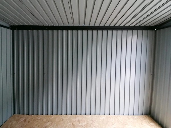 The internal wall detail of the premium sheds