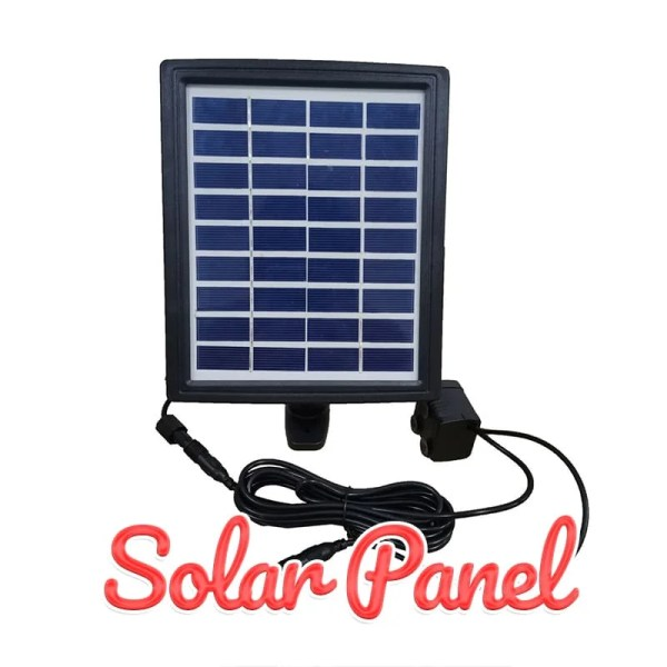 The Solar Panel which powers the water features