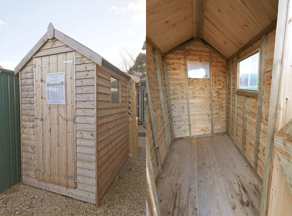 The standard style wooden shed