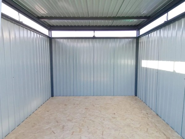 An interior view of the premium panoramic garden shed