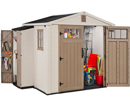 Keter Infinity 8 W X 6 4 D Plastic Storage Shed Kit Cabinet