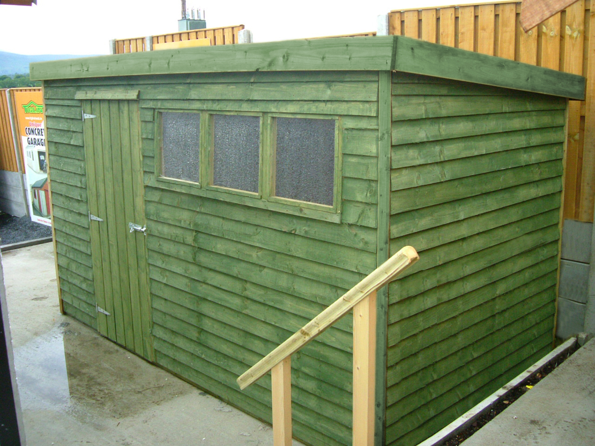 Flat Roof Shed Amp Lugarde Prima Thomas Garden Shed