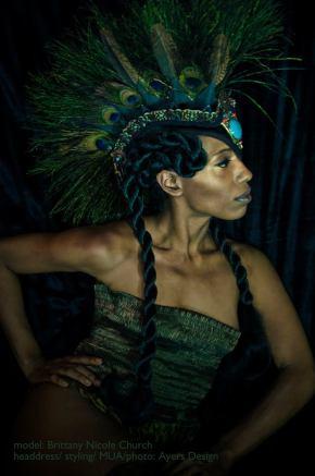 headress/styling/MUA/Photo by Ayers Design