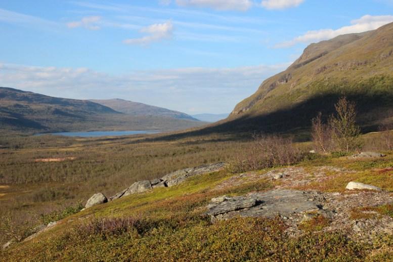 Blick zurück auf den Abiskojärvi See