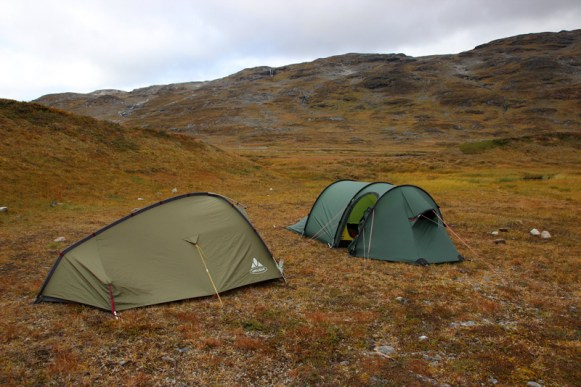 Unser Zeltplatz in der nordischen Landschaft