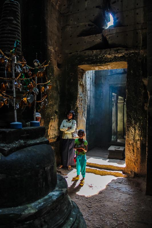 Die Tempel werden auch heute noch von Gläubigen besucht