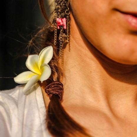 Jasminblüten im Haar :)