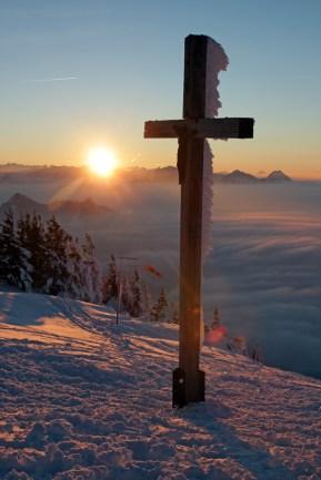 Gipfelkreuz am Hochries