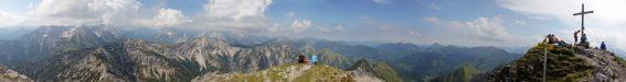 Auf dem Gipfel der Montscheinspitze