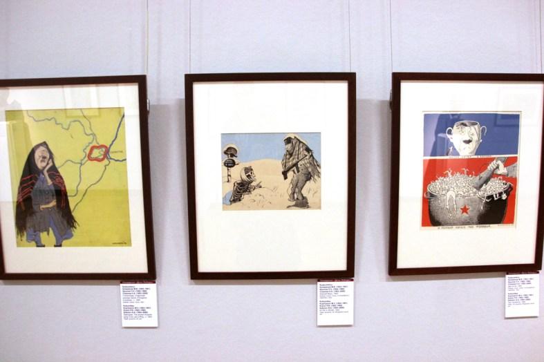 Hitler Karrikaturen in der Tretyakov Galerie