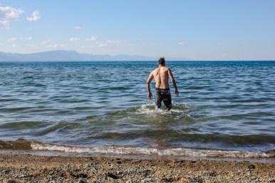 Erfrischendes Bad im Khövsghöl See