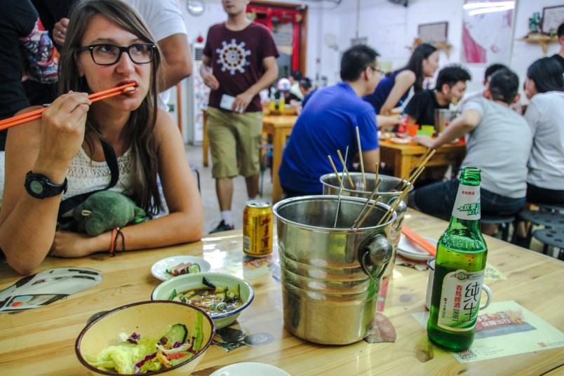 Abendessen in Peking - Leckere Spieße