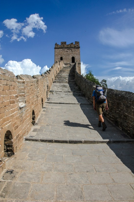 Letzter Anstieg in Jinshanling