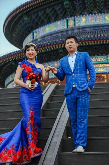 Ein beliebter Ort für ein Fotoshooting von Brautpaaren