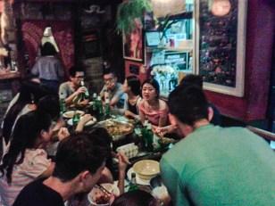Hotpot Party im Mix Hostel in Chengdu