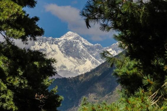Erster Blick auf den Mt Everest
