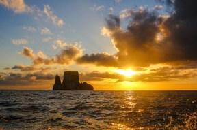 Kicker Rock im Sonnenuntergang