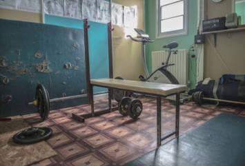 Fitnessraum der Vernadsky Station
