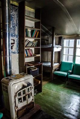 Wohnzimmer der Wordie Hut