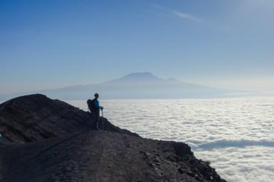 Blick zum Kilimanjaro, dem nächsten Ziel
