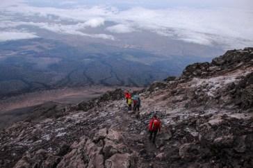 Abstieg vom Meru