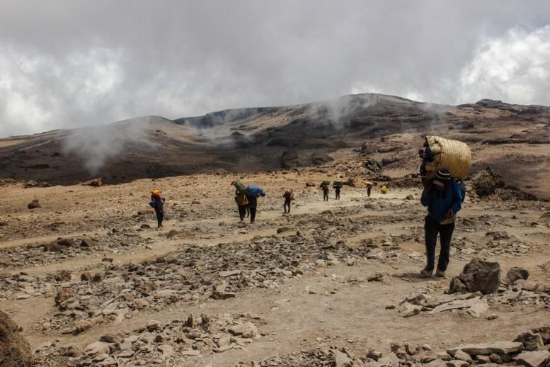 Aufstieg zum Barafu Camp