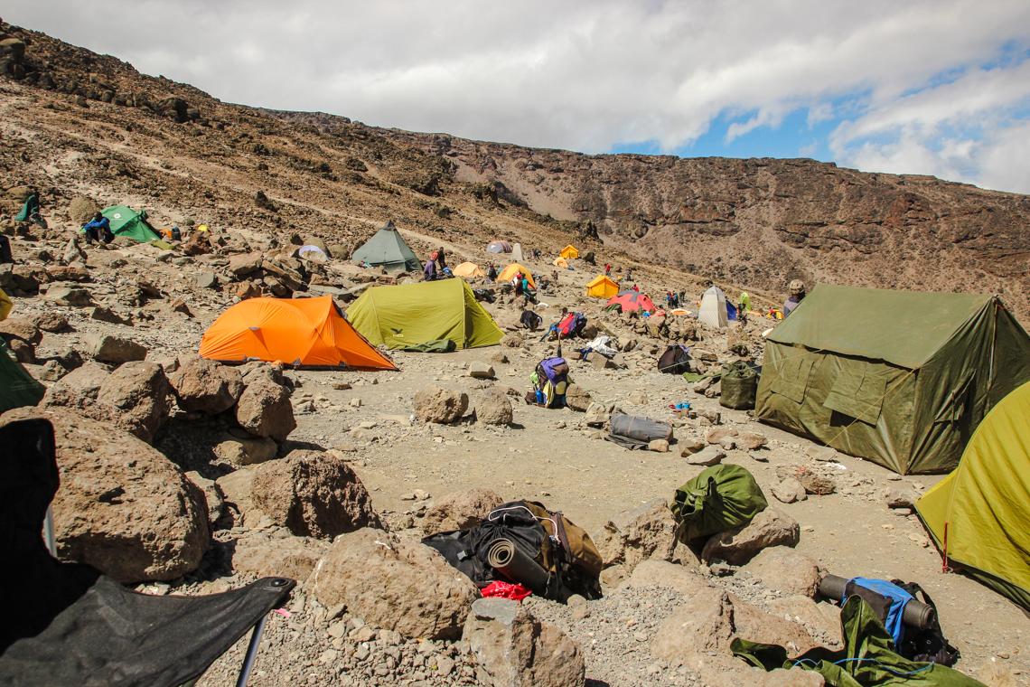 Typisches Zeltcamp am Kilimanjaro