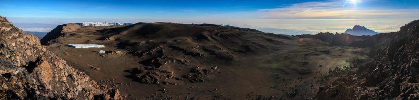 Der Krater am Uhuru Peak