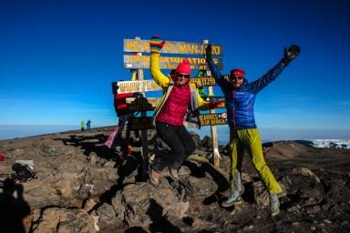Happy am Kilimanjaro