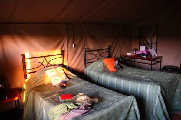 Unser Zimmer im Zelt