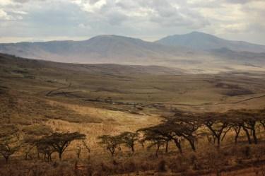Anfahrt in die Serengeti durch den Ngorongoro Krater