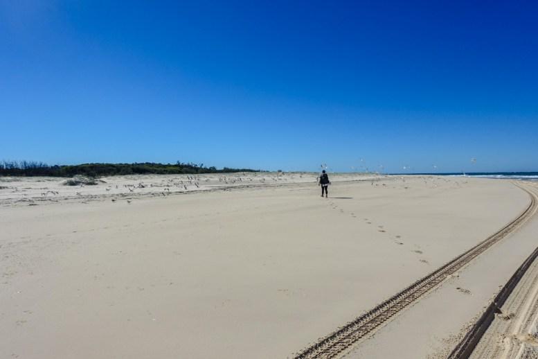 Beach Walking auf Fraser Island