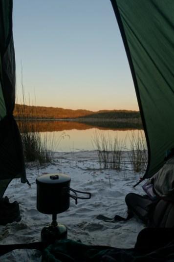Abendessen am Lake Benaroon