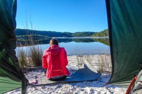 Unser Zeltplatz am Lake Benaroon