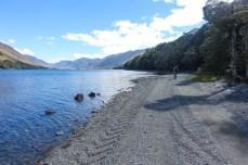 Heute geht's zuerst immer am North Mavora Lake entlang