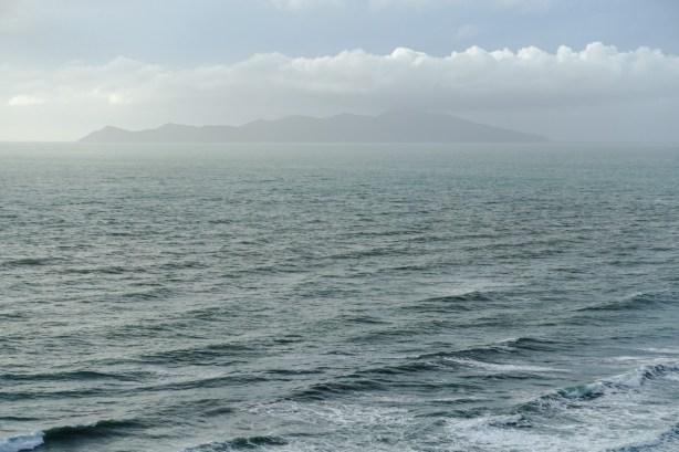 Kapiti Island in der Ferne