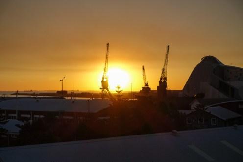 Sonnenuntergang am Round House